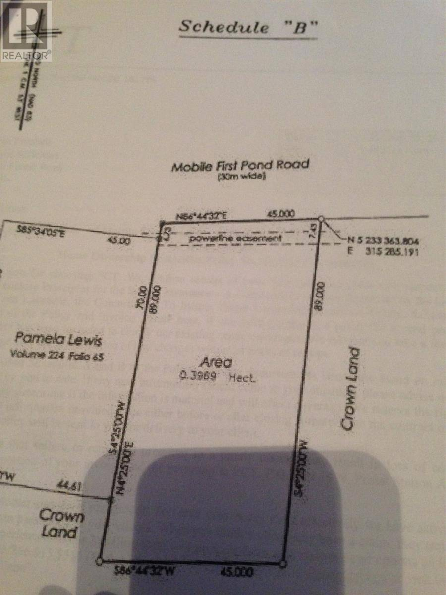 Residential property for sale at 0 Mobile First Pond Rd Mobile Newfoundland - MLS: 1157630
