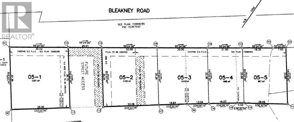 Residential property for sale at Lot 05-5 Bleakney Rd Unit 05-5 Salisbury New Brunswick - MLS: M127895