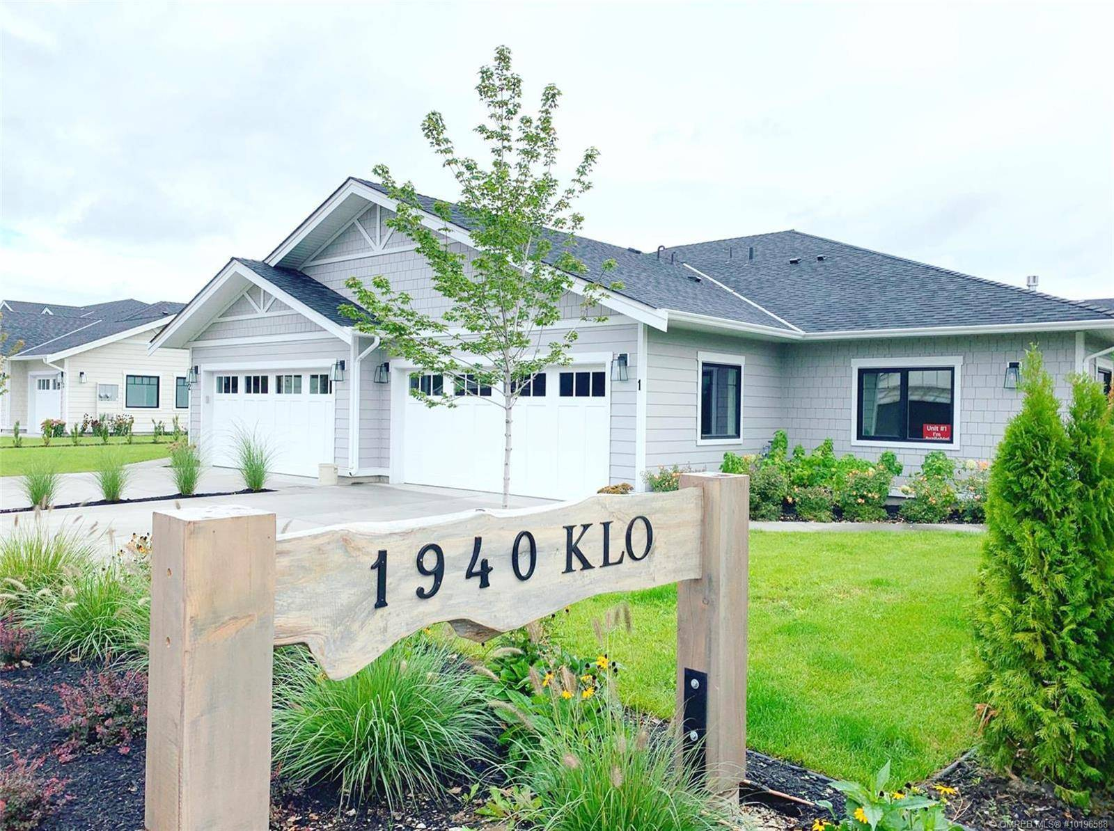 Townhouse for sale at 1940 Klo Rd Unit 1 Kelowna British Columbia - MLS: 10196588