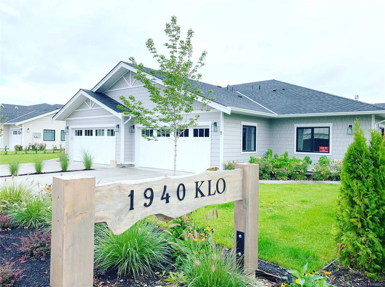 Townhouse for sale at 1940 Klo Rd Unit 1 Kelowna British Columbia - MLS: 10199392