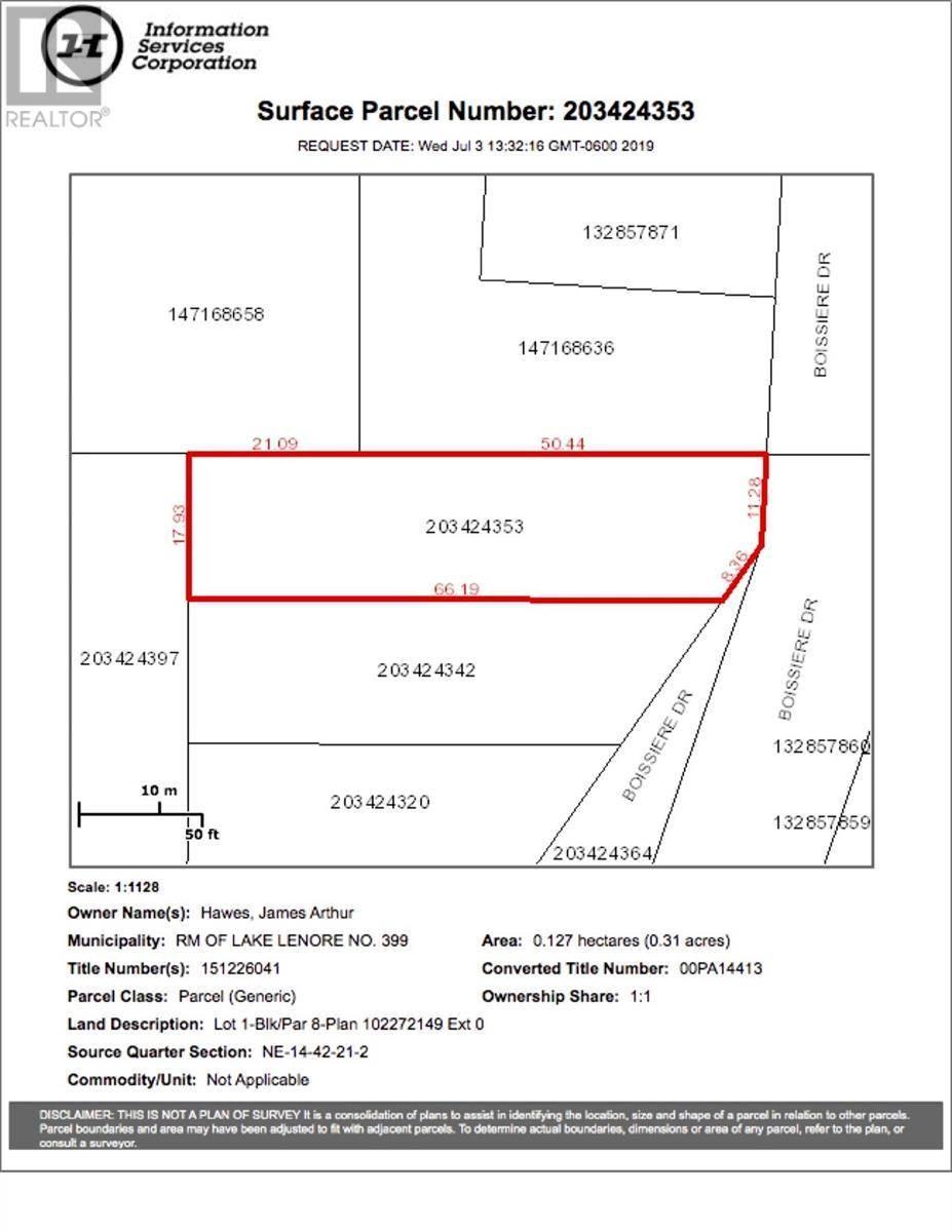 Residential property for sale at 8 Lot Block Dr Unit 1; St. Brieux Saskatchewan - MLS: SK778726