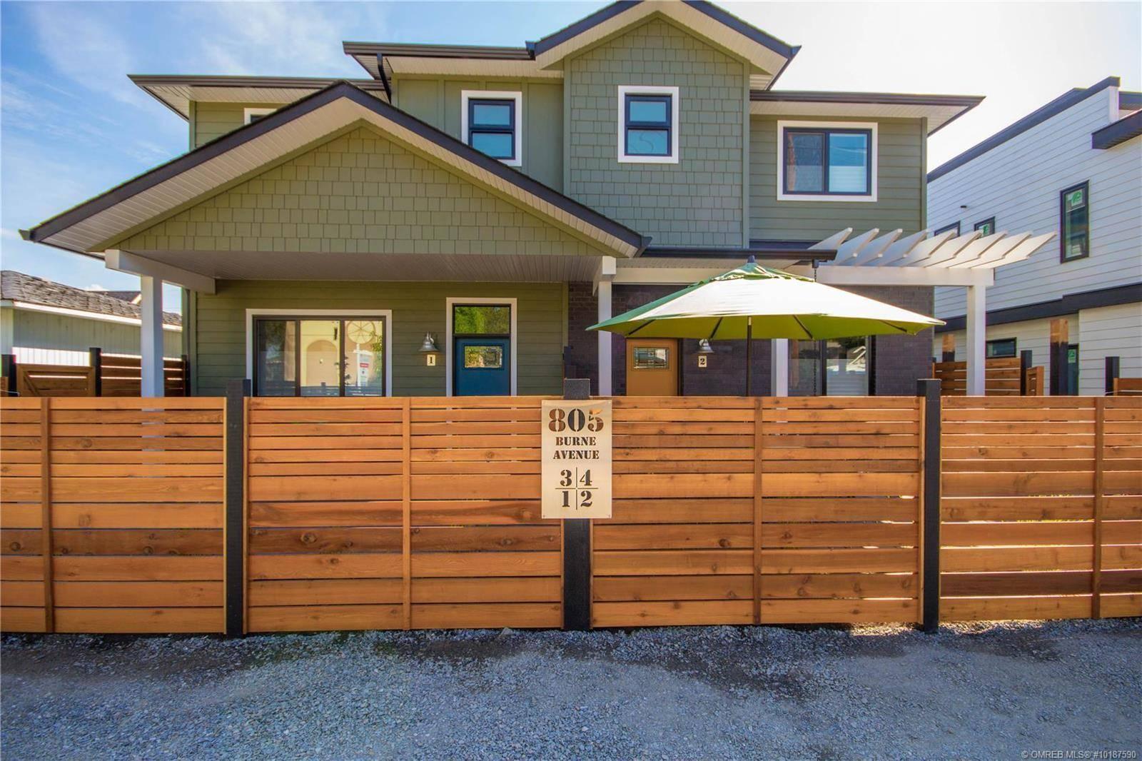 Townhouse for sale at 805 Burne Ave Unit 1 Kelowna British Columbia - MLS: 10187590