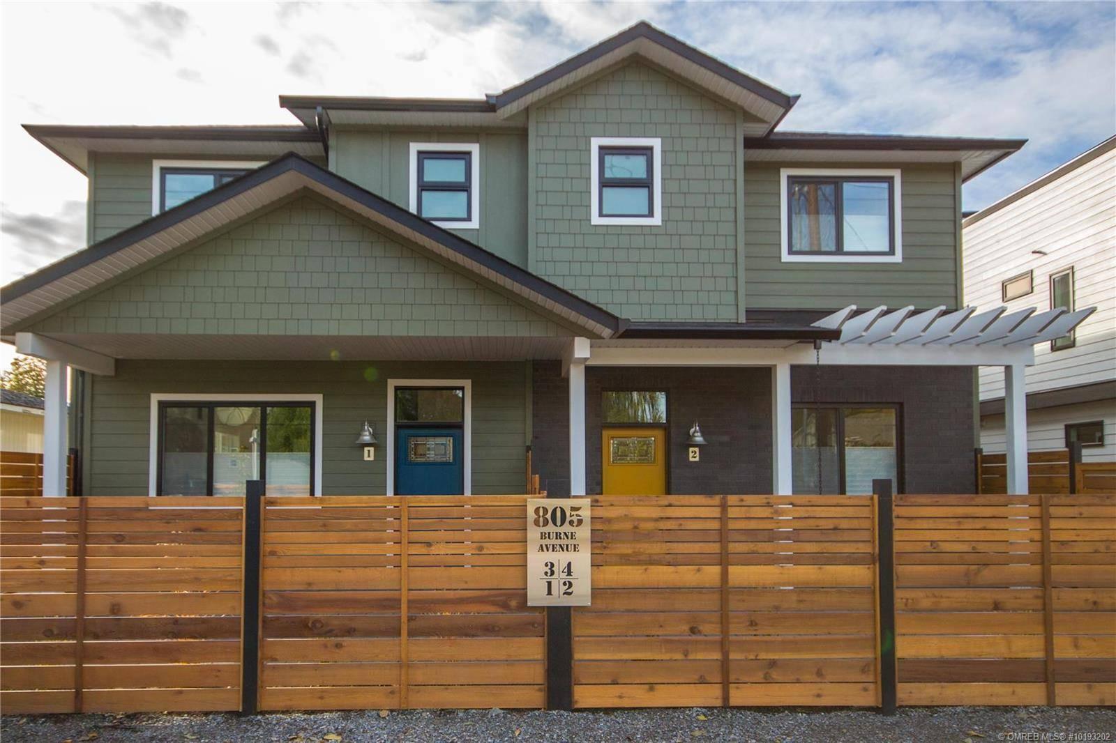 Townhouse for sale at 805 Burne Ave Unit 1 Kelowna British Columbia - MLS: 10193202