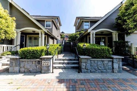 Townhouse for sale at 222 5th St E Unit 10 North Vancouver British Columbia - MLS: R2375845