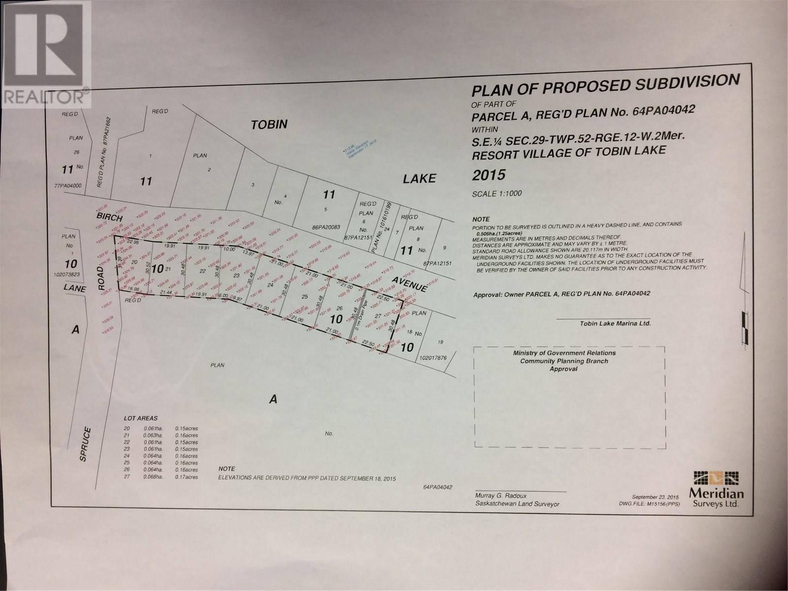 Residential property for sale at 10 Birch Ave S Tobin Lake Saskatchewan - MLS: SK756024