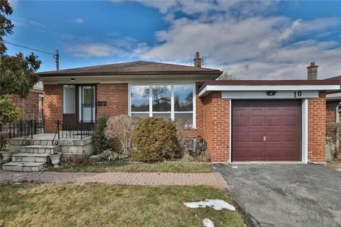 House for sale at 10 Stevenharris Dr Toronto Ontario - MLS: W4711906