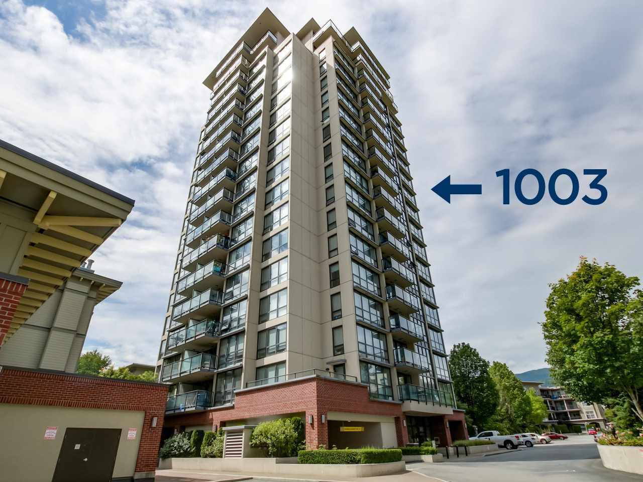For Sale: 1003 - 2959 Glen Drive, Coquitlam, BC | 1 Bed, 1 Bath Condo for $498,000. See 10 photos!