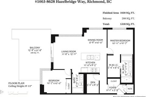 Condo for sale at 8628 Hazelbridge Wy Unit 1003 Richmond British Columbia - MLS: R2383981