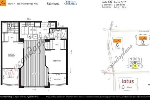 Condo for sale at 6888 Alderbridge Wy Unit 1005 Richmond British Columbia - MLS: R2480949