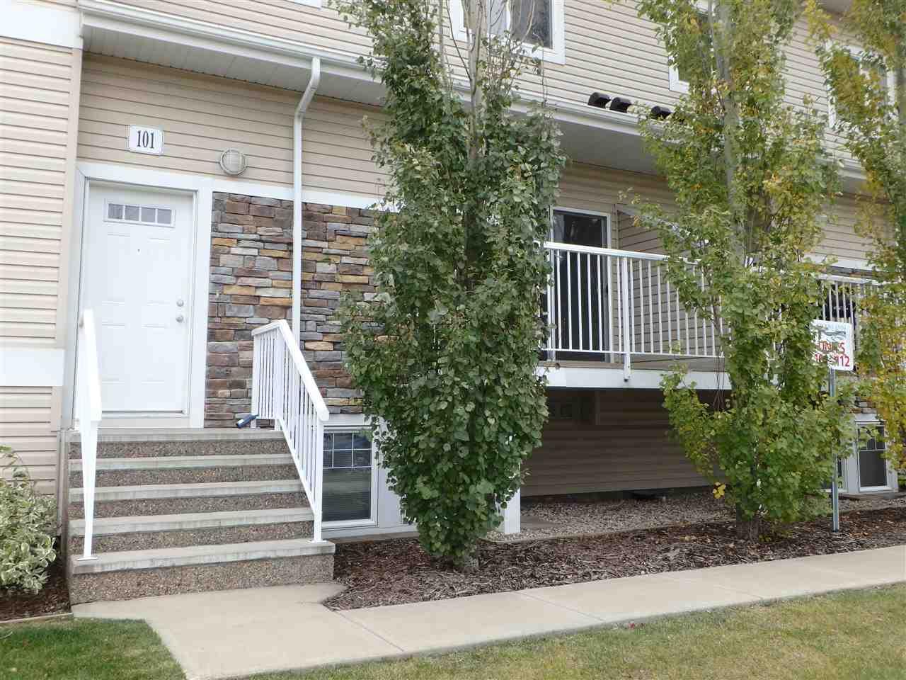 For Sale: 101 - 164 Bridgeport Boulevard, Leduc, AB   2 Bed, 1 Bath House for $199,900. See 17 photos!