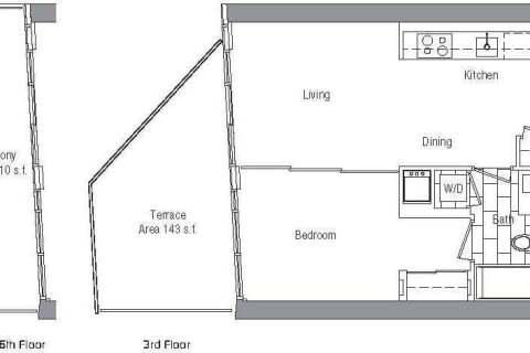 Apartment for rent at 75 Queens Wharf Rd Unit 1012 Toronto Ontario - MLS: C4877244