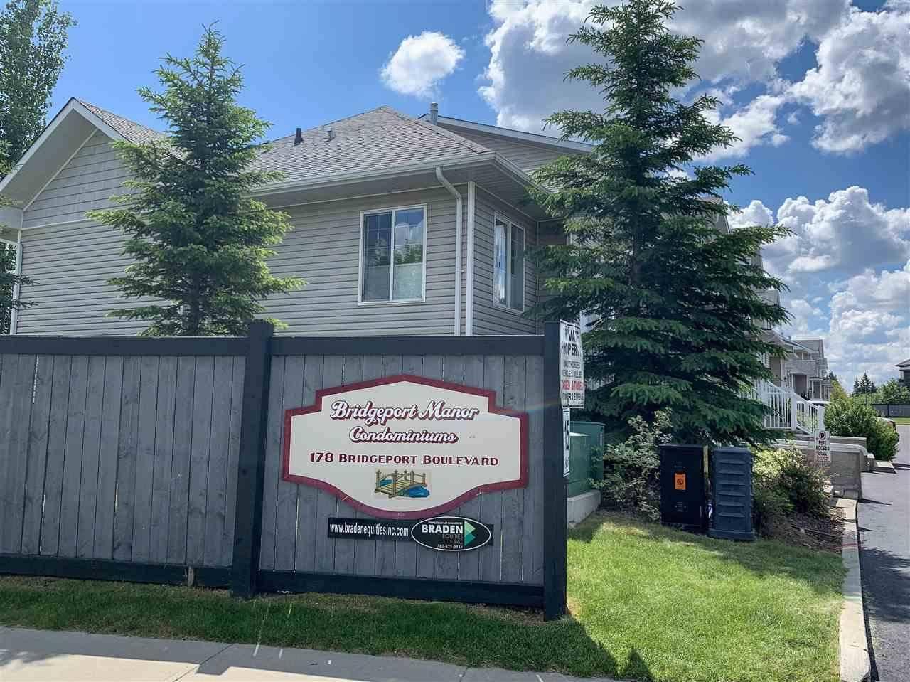 Townhouse for sale at 178 Bridgeport Blvd Unit 102 Leduc Alberta - MLS: E4155525