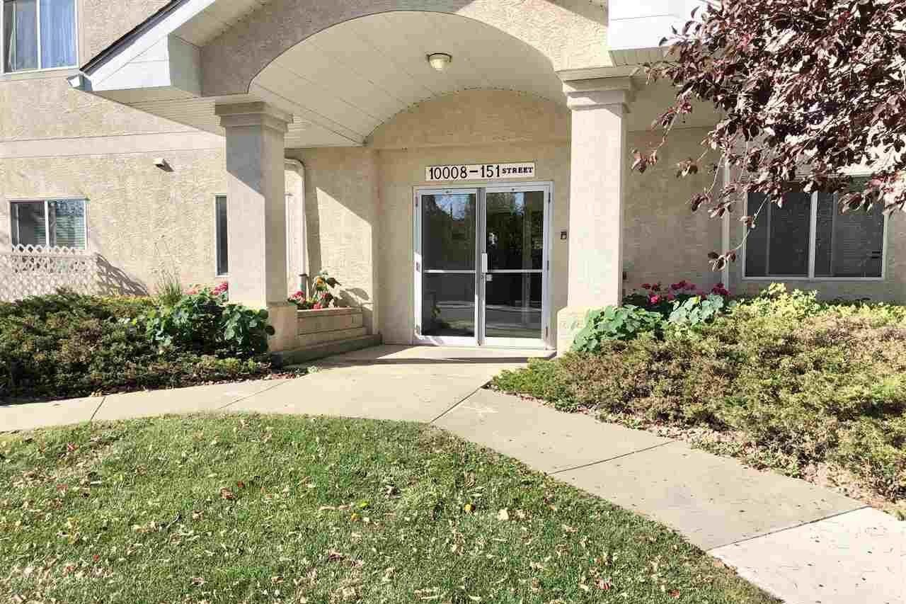 Condo for sale at 10008 151 St NW Unit 103 Edmonton Alberta - MLS: E4218749