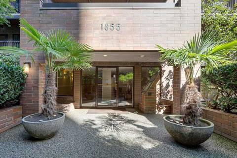 Condo for sale at 1655 Nelson St Unit 103 Vancouver British Columbia - MLS: R2408689