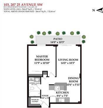 Condo for sale at 207 25 Ave Southwest Unit 103 Calgary Alberta - MLS: C4262217
