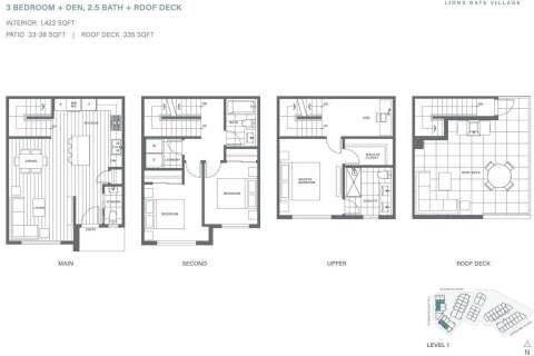 Townhouse for sale at 2035 Glenaire Dr Unit 104 North Vancouver British Columbia - MLS: R2465031
