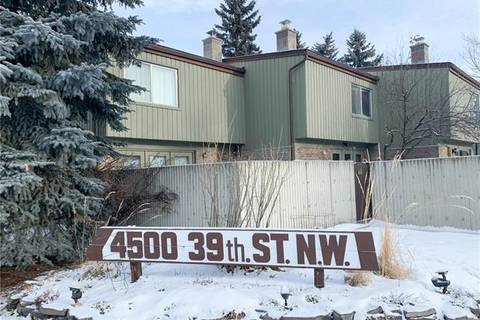 Townhouse for sale at 4500 39 St Northwest Unit 104 Calgary Alberta - MLS: C4281328