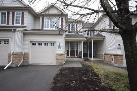 Townhouse for sale at 104 Lockhaven Pt Ottawa Ontario - MLS: 1150385