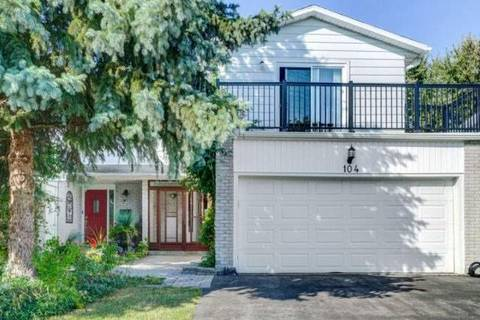 Townhouse for sale at 104 Nortonville Dr Toronto Ontario - MLS: E4582814