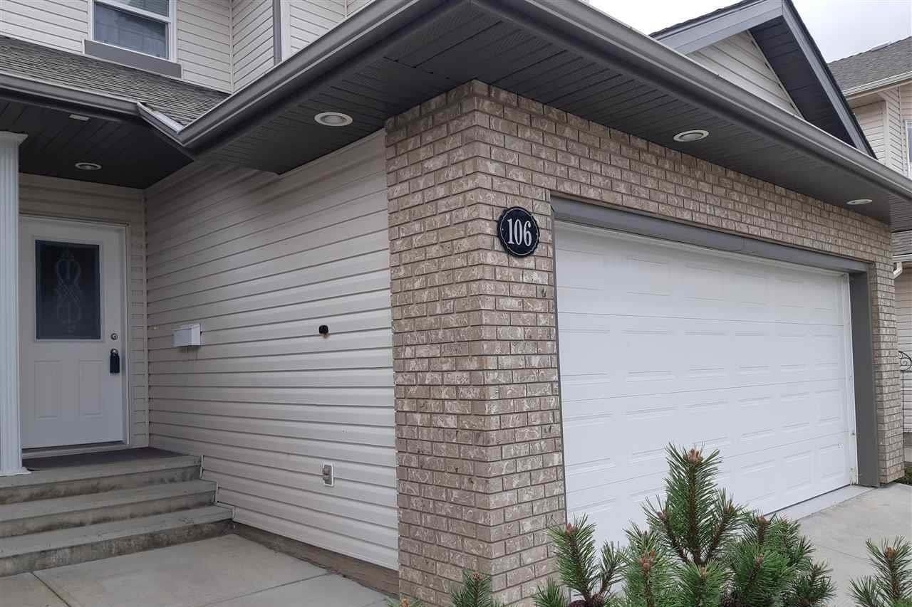 Townhouse for sale at 106 Westerra Bv Stony Plain Alberta - MLS: E4214932