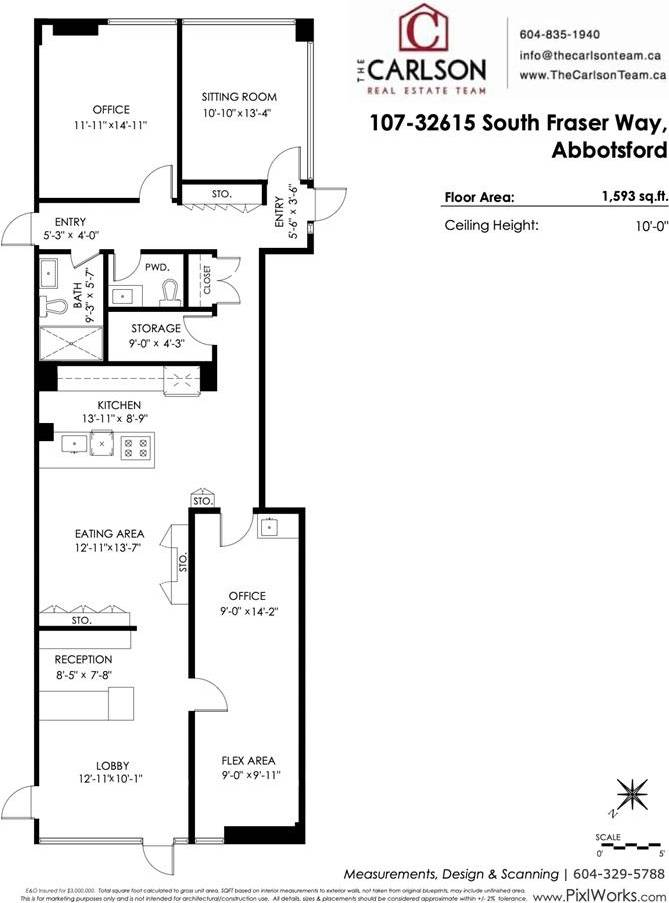 Commercial property for sale at 32615 Fraser Wy South Unit 107 Abbotsford British Columbia - MLS: C8029858