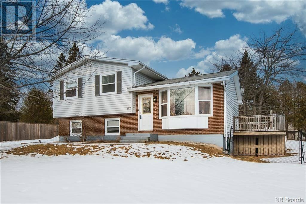 House for sale at 107 Lancelot  Quispamsis New Brunswick - MLS: NB039395