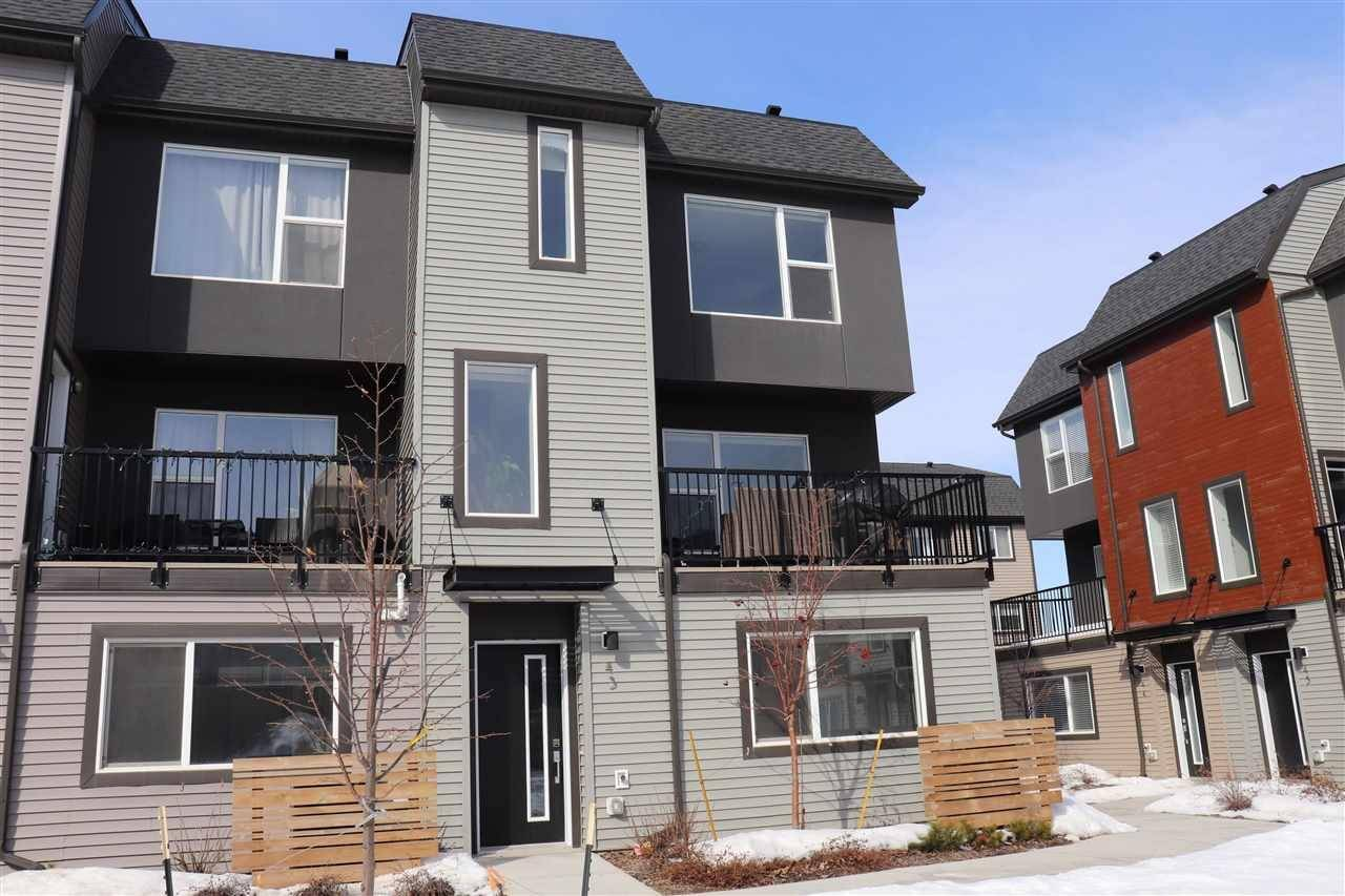 Townhouse for sale at 1075 Rosenthal Blvd Nw Edmonton Alberta - MLS: E4191957