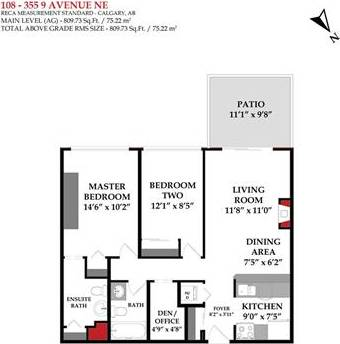 Condo for sale at 355 5 Ave Northeast Unit 108 Calgary Alberta - MLS: C4237037