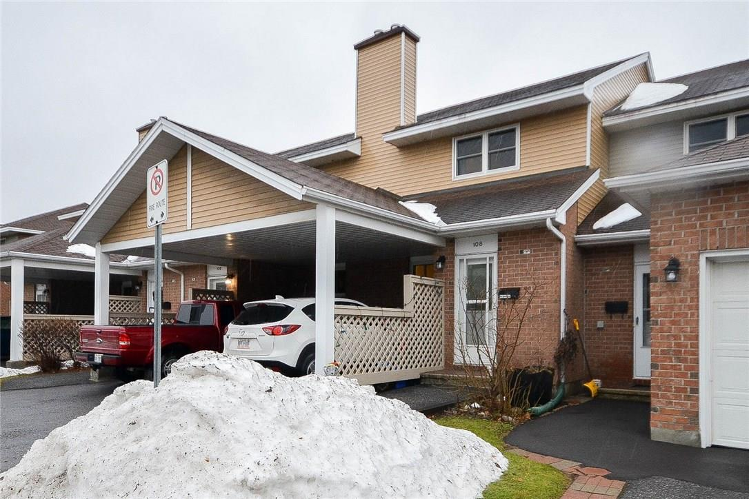 For Sale: 108 Bentbrook Crescent, Ottawa, ON | 3 Bed, 2 Bath Townhouse for $246,900. See 15 photos!