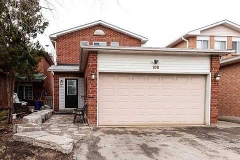 House for sale at 108 Ecclestone Dr Brampton Ontario - MLS: W4730880