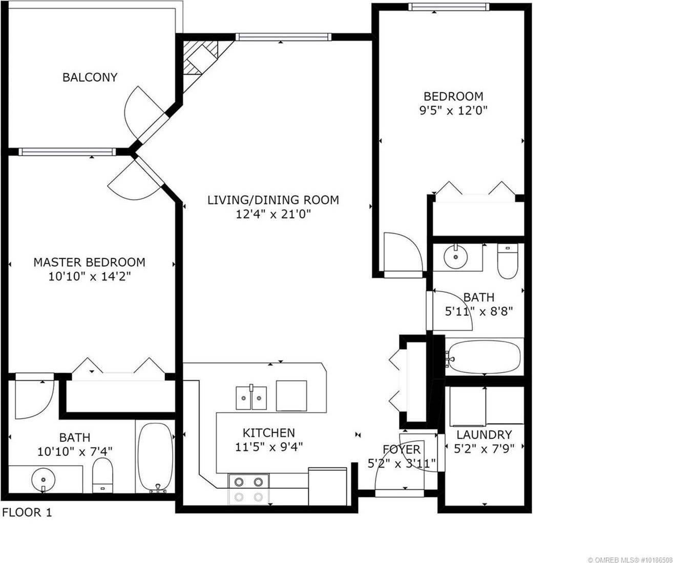 Condo for sale at 345 Mills Rd Unit 109 Kelowna British Columbia - MLS: 10186508