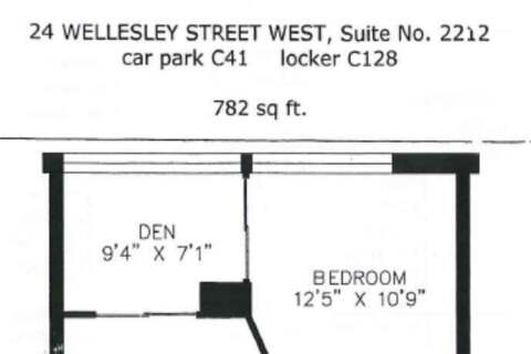 Apartment for rent at 24 Wellesley St Unit 2212 Toronto Ontario - MLS: C4773797