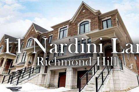 Townhouse for sale at 11 Nardini Ln Richmond Hill Ontario - MLS: N4416200