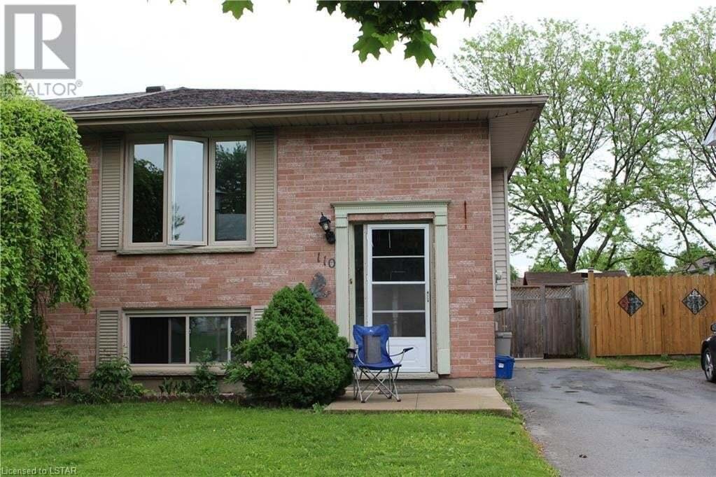 Residential property for sale at 110 Bonaventure Dr London Ontario - MLS: 261891