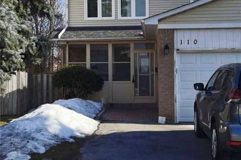 Townhouse for rent at 110 Copperwood Sq Toronto Ontario - MLS: E4711763