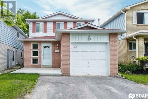 House for sale at 110 Garden Dr Barrie Ontario - MLS: 30746255