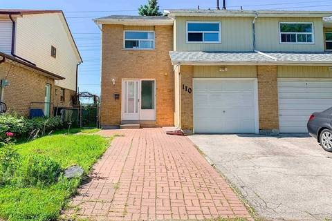 Townhouse for sale at 110 Valdor Dr Toronto Ontario - MLS: E4495504
