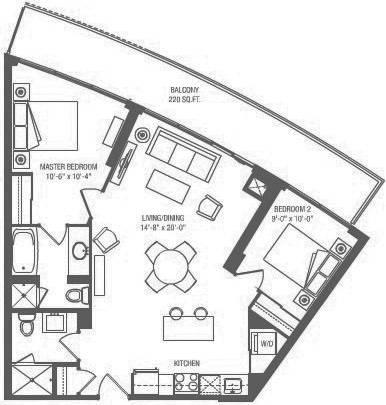 Apartment for rent at 160 Vanderhoof Ave Unit 1104 Toronto Ontario - MLS: C4561988