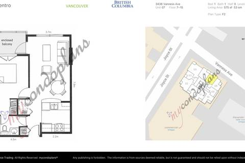 Condo for sale at 3438 Vanness Ave Unit 1107 Vancouver British Columbia - MLS: R2399031