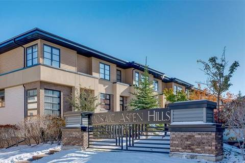 Townhouse for sale at 111 Aspen Hills Villa(s) Southwest Calgary Alberta - MLS: C4272371