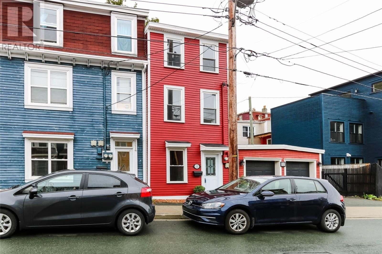 House for sale at 112 Bond St St. John's Newfoundland - MLS: 1221103
