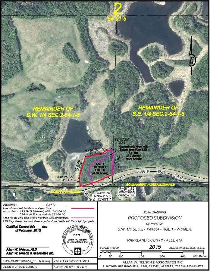 Residential property for sale at 1120 Twp Rd Rural Parkland County Alberta - MLS: E4044204
