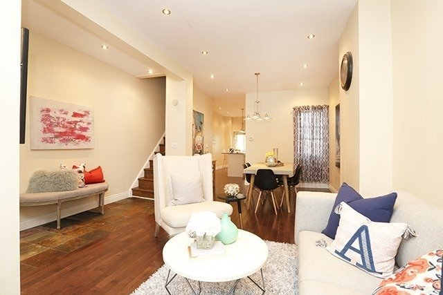 For Sale: 113 Logan Avenue, Toronto, ON | 3 Bed, 2 Bath Townhouse for $988,800. See 16 photos!