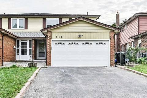 Townhouse for sale at 116 Micmac Cres Toronto Ontario - MLS: C4598167