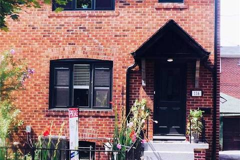 Townhouse for sale at 116 St Clarens Ave Toronto Ontario - MLS: C4514093