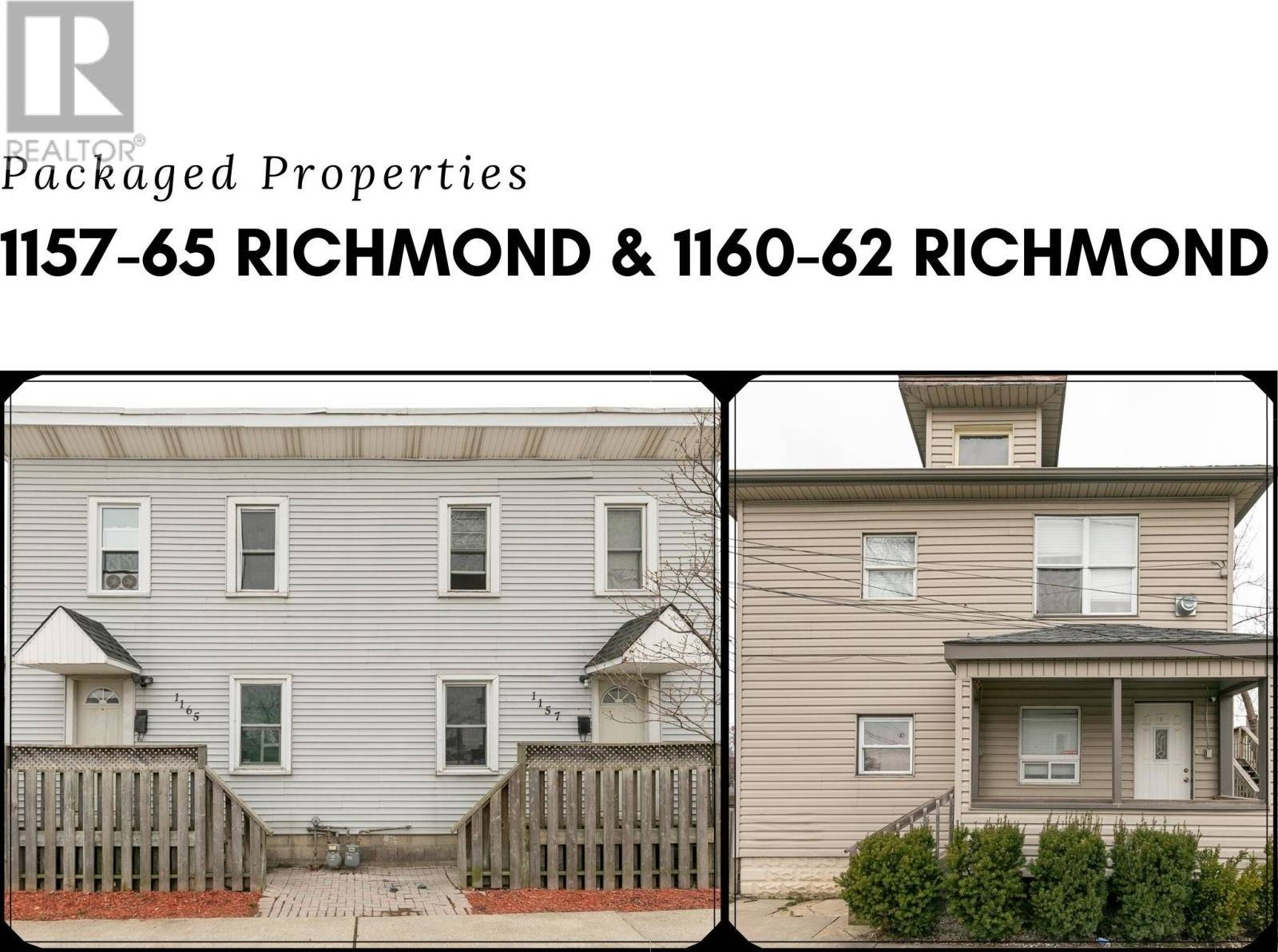 Townhouse for sale at 1160 Richmond & 1157-65 Richmond  Windsor Ontario - MLS: 20003809