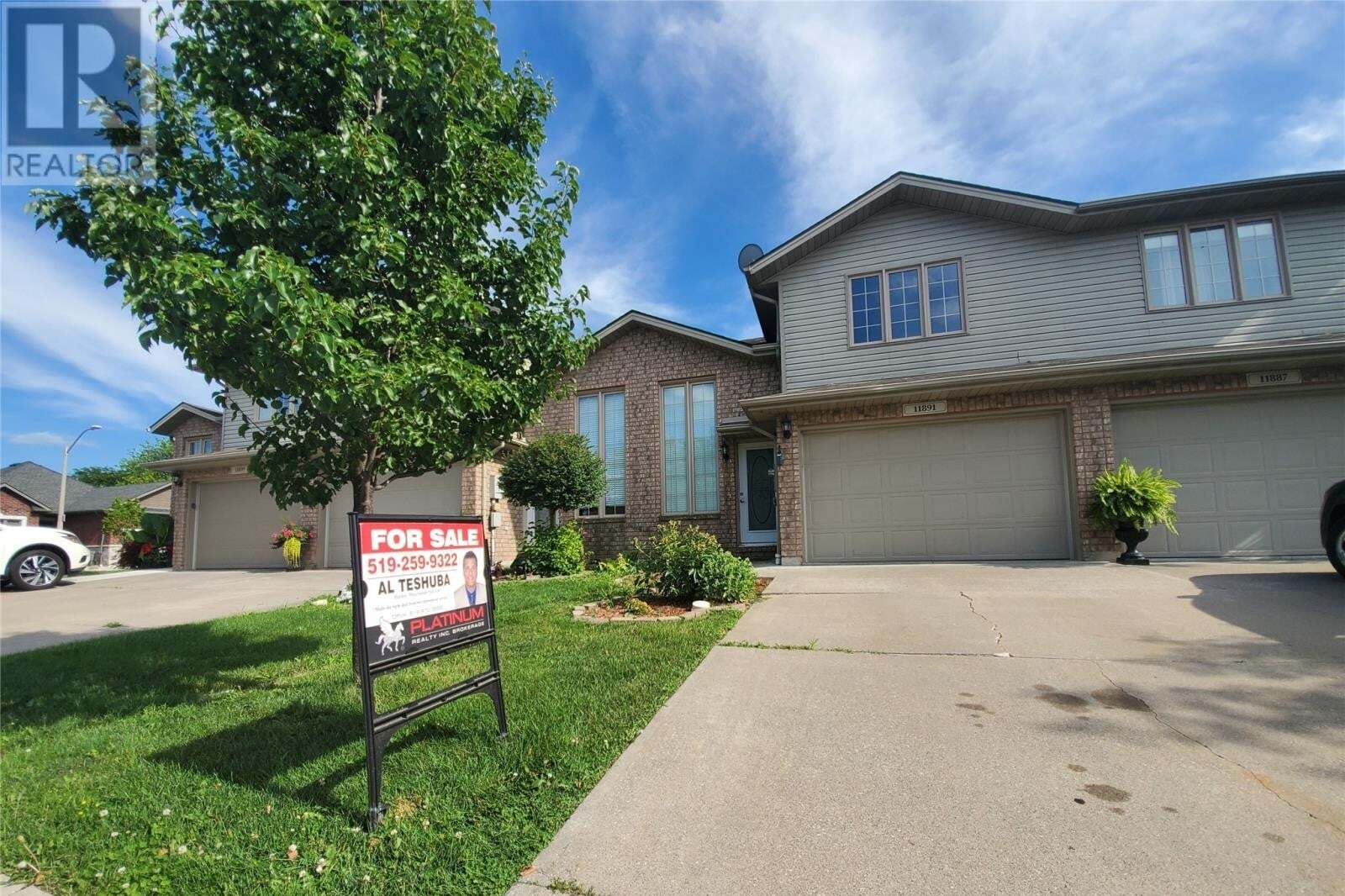 Townhouse for sale at 11891 Boulder Cres Windsor Ontario - MLS: 20010308