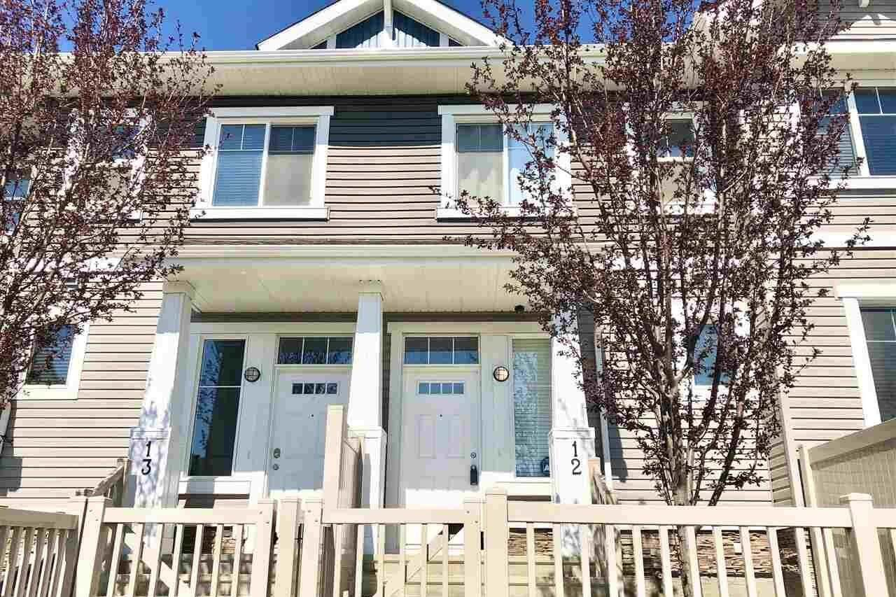 Townhouse for sale at 1140 Chappelle Bv SW Unit 12 Edmonton Alberta - MLS: E4192485