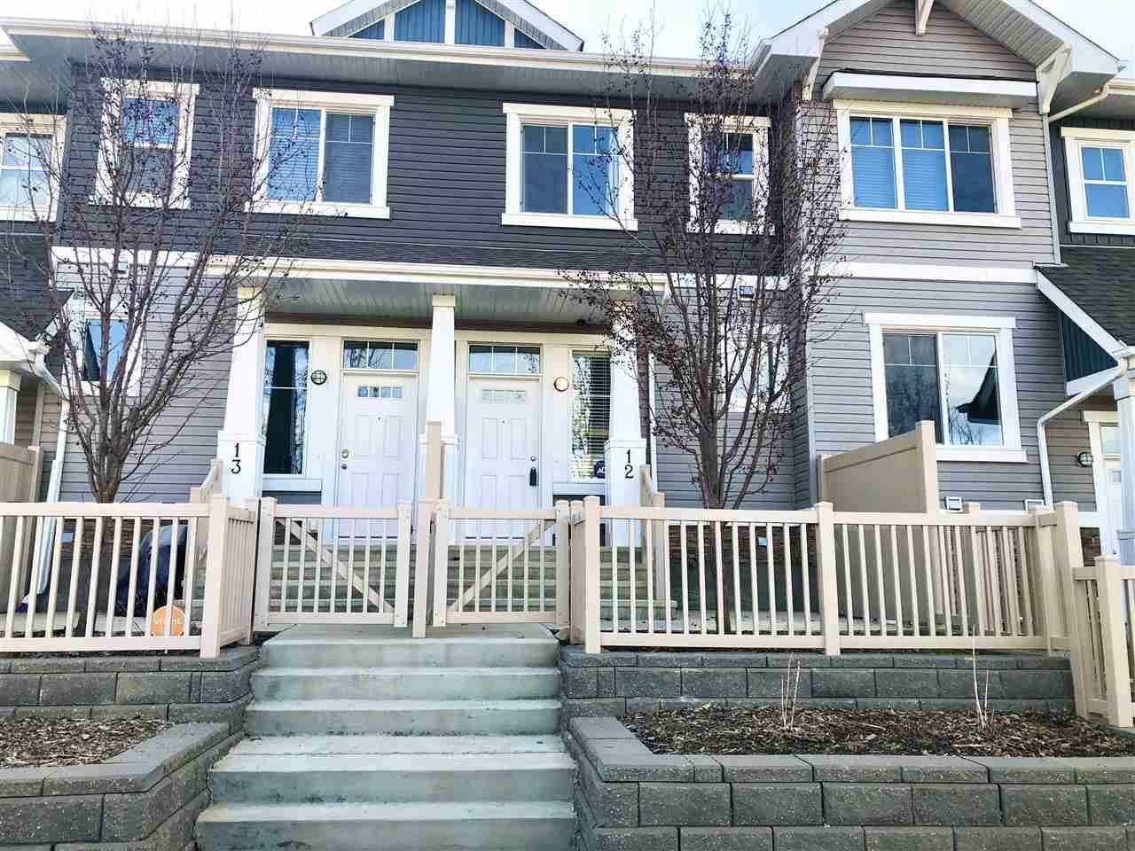 Townhouse for sale at 1140 Chappelle Blvd Sw Unit 12 Edmonton Alberta - MLS: E4192485