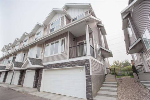 Townhouse for sale at 13215 153 Ave Nw Unit 12 Edmonton Alberta - MLS: E4150907